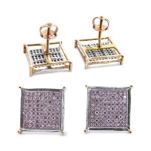 Other - 14 Karat Diamond Men's Studs Earrings With Screw.